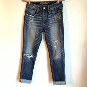 American Eagle Outfitters Distressed Stretch Jeans